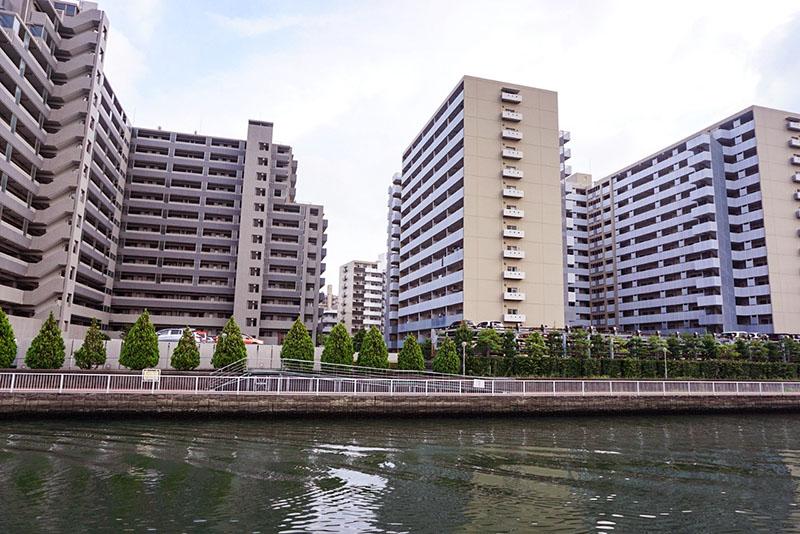 汐浜運河周辺の団地
