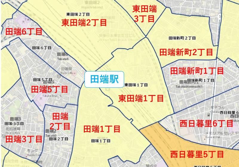 田端の犯罪マップ