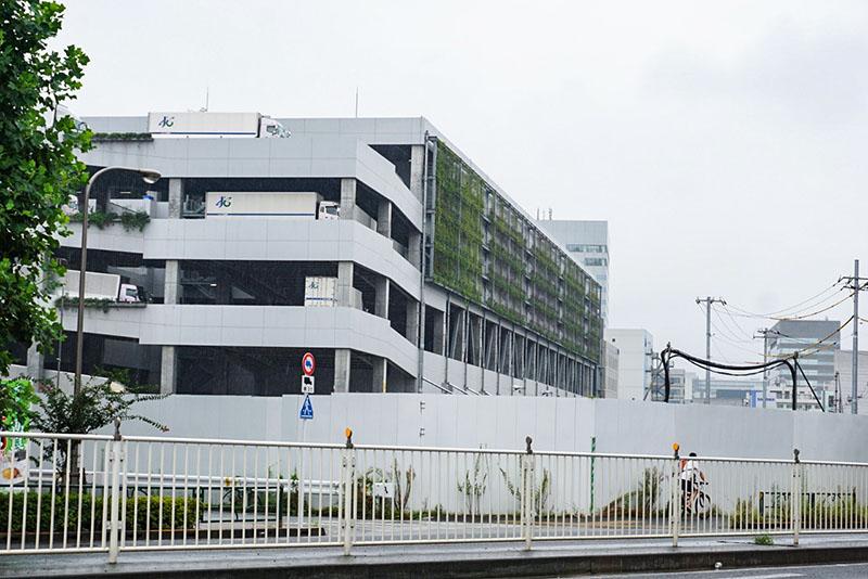 佐川急便の敷地