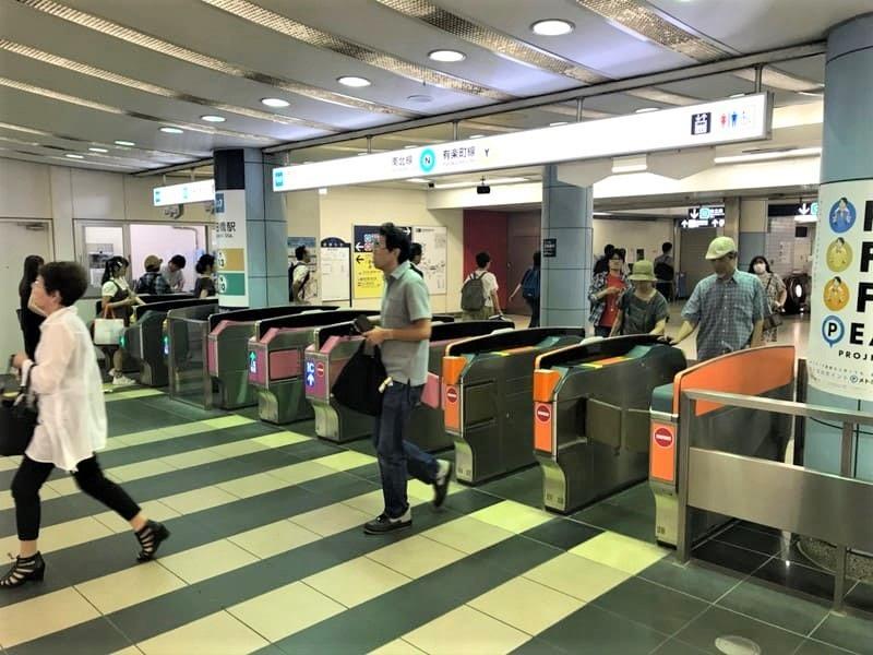 東京メトロ南北線有楽町線飯田橋駅改札前