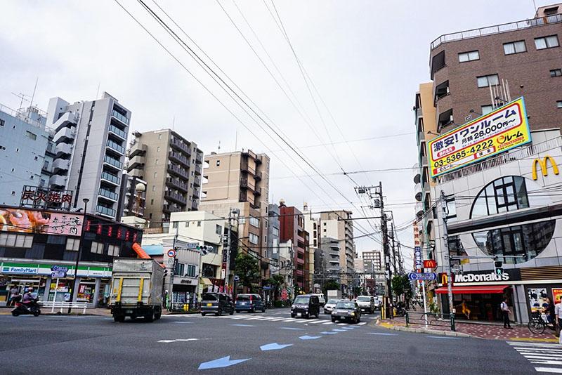 菊川駅前の交差点