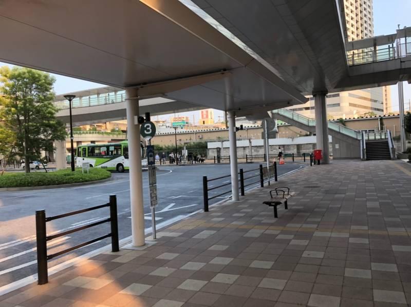 武蔵浦和駅のバスロータリー