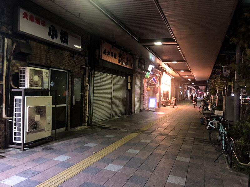 明治通り沿いの夜の風景