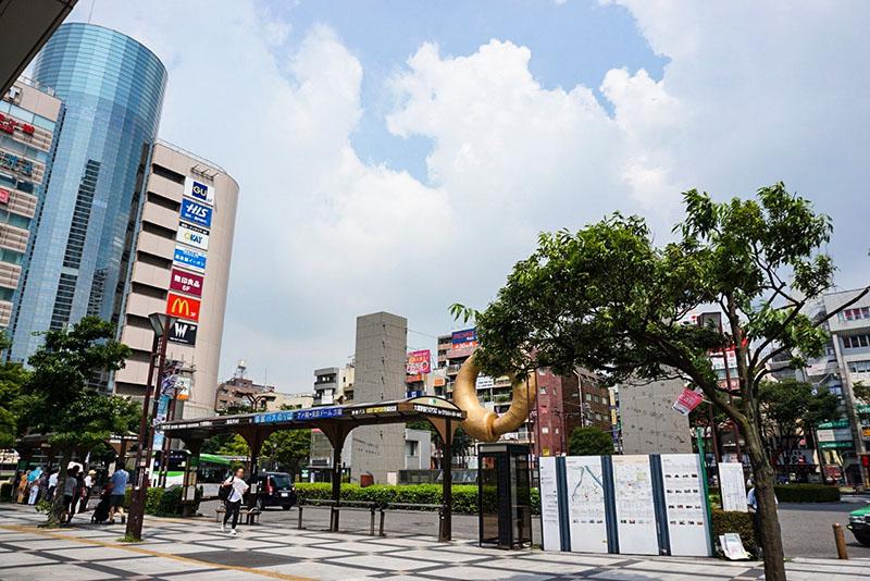 錦糸町駅北口からみた風景