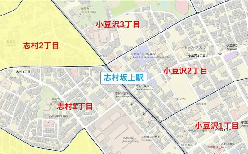 志村坂上駅周辺の粗暴犯の犯罪件数マップ