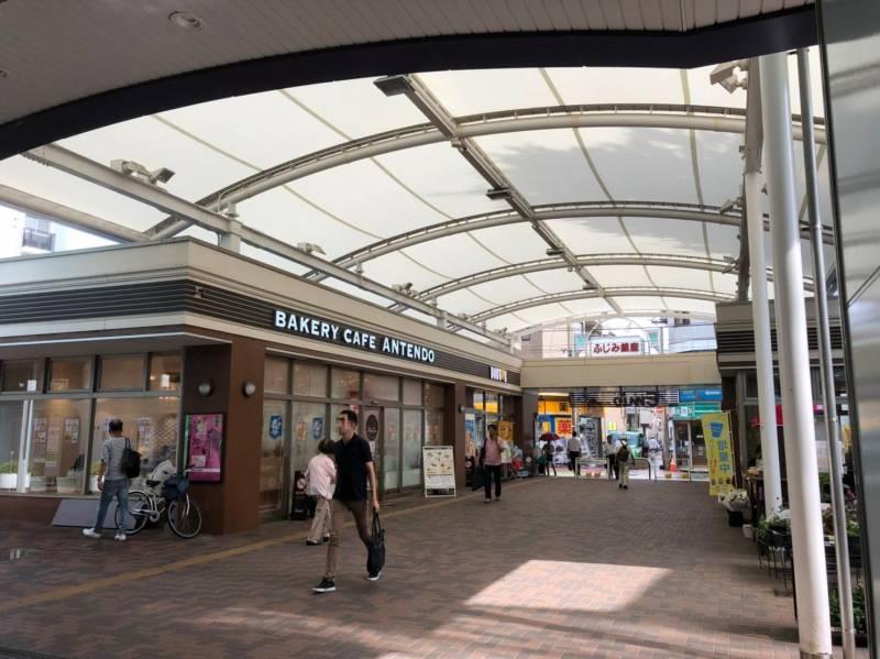 富士見台駅のアーケード