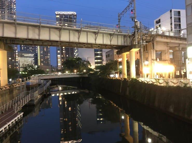 夜の目黒川