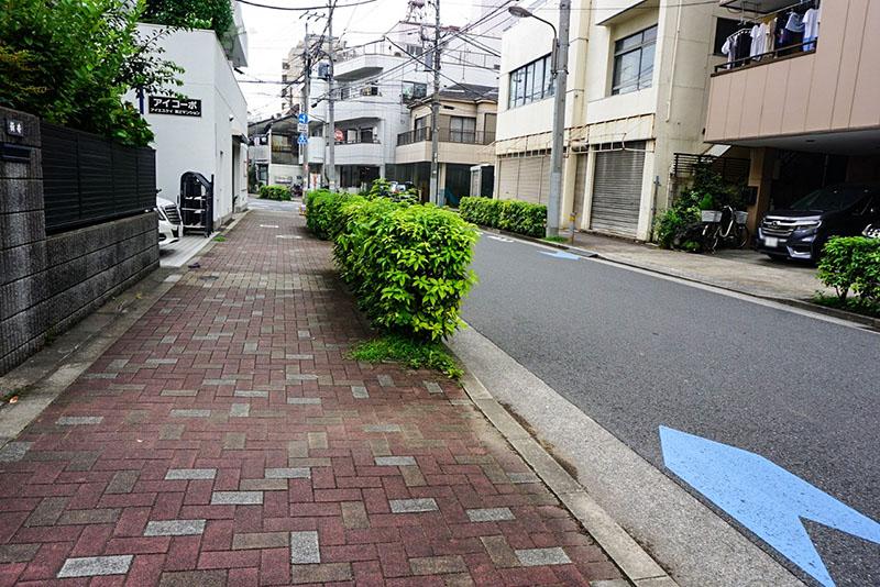 整備された道路