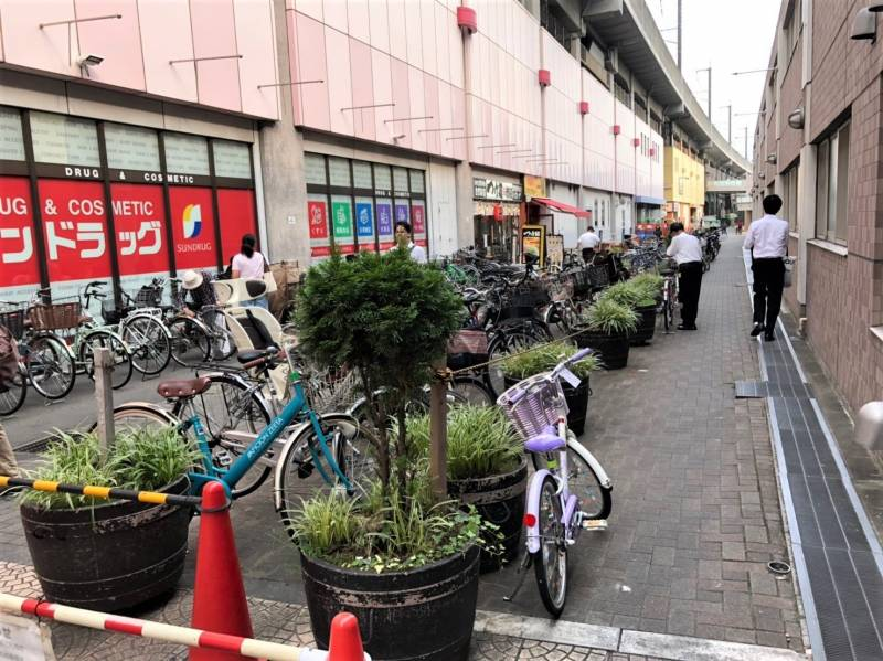 武蔵浦和駅前の駐輪場