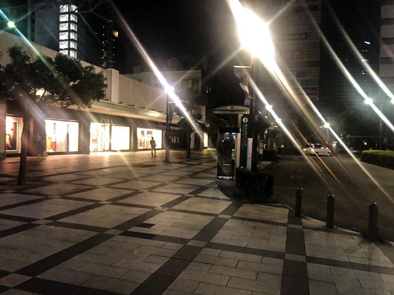 夜の錦糸町北口の風景