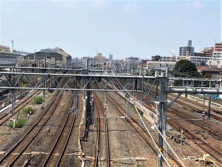 大宮駅を走る線路