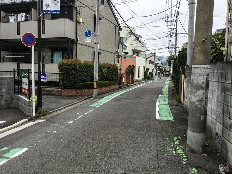 与野駅西口側の住宅街