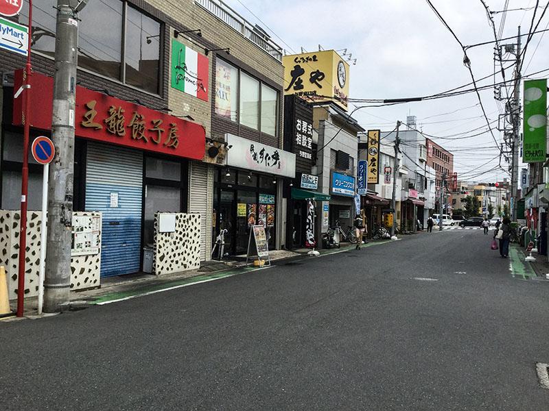 与野駅東口側の飲食店