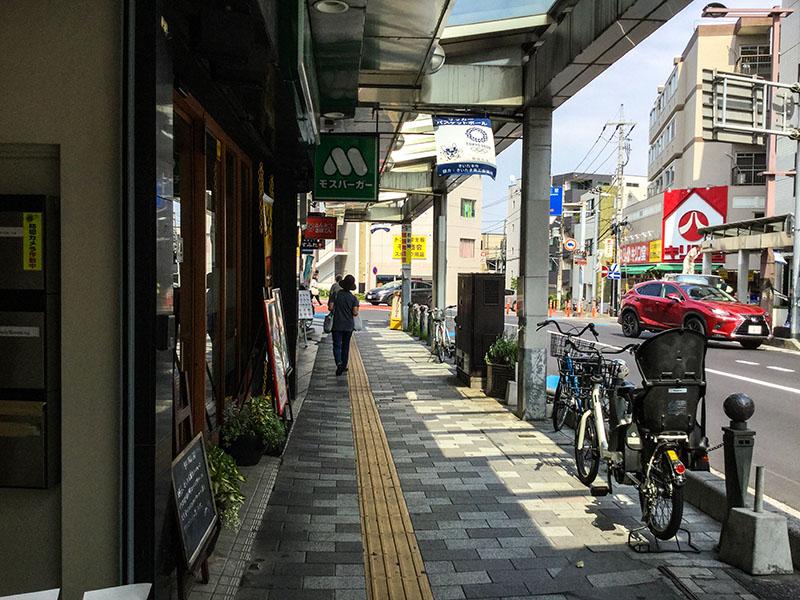 北浦和駅東口のアーケードの様子