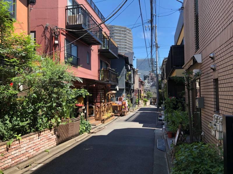 神楽坂の住宅街