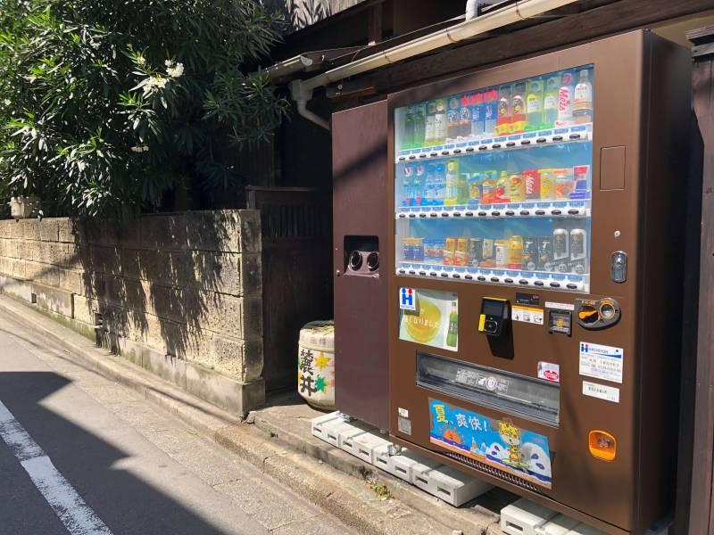 神楽坂の自販機