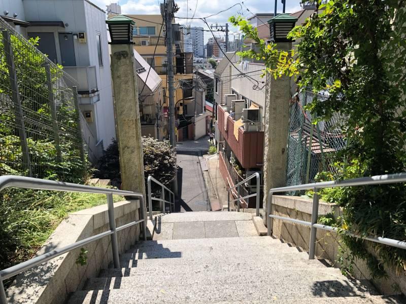 赤城神社裏手にある階段