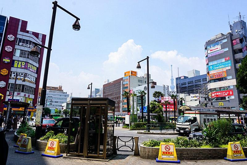 亀戸駅北口のロータリー