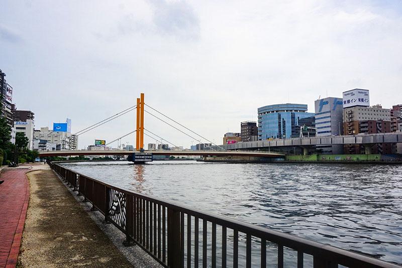 隅田川と新大橋
