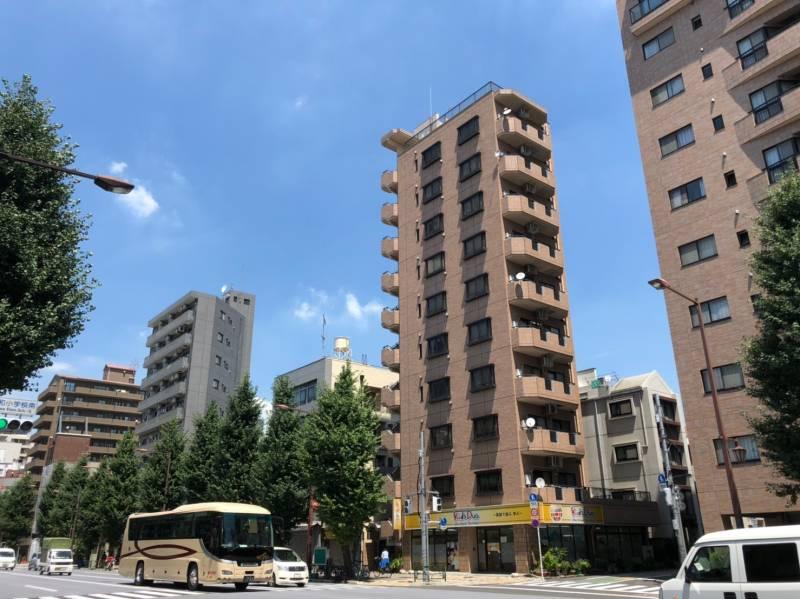 本郷通りの高層マンション