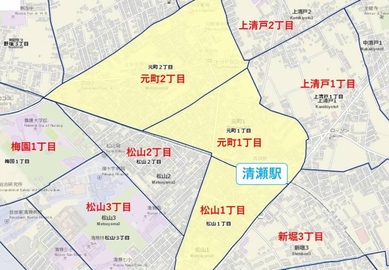清瀬駅周辺の犯罪データ