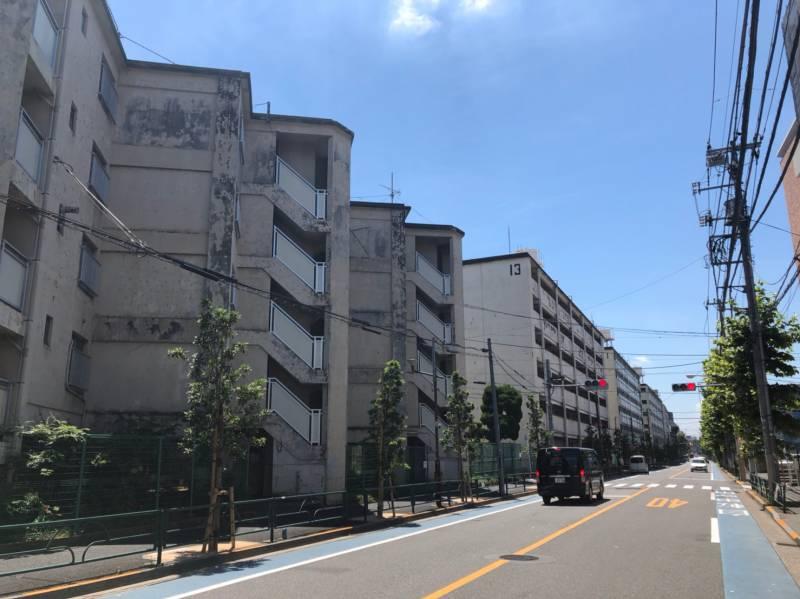 笹塚駅北側の住宅街は都営アパート