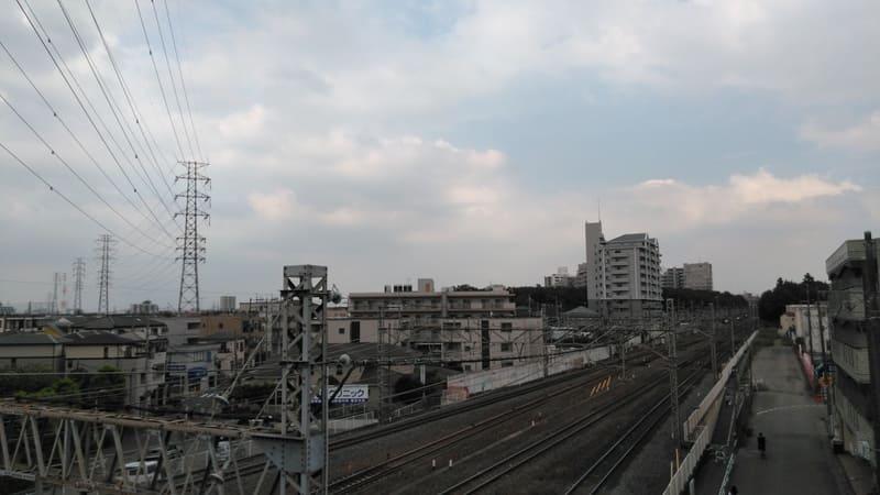 志木駅 陸橋からの風景