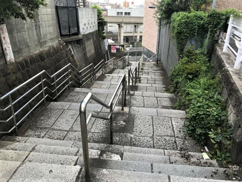田端駅南口に繋がる階段