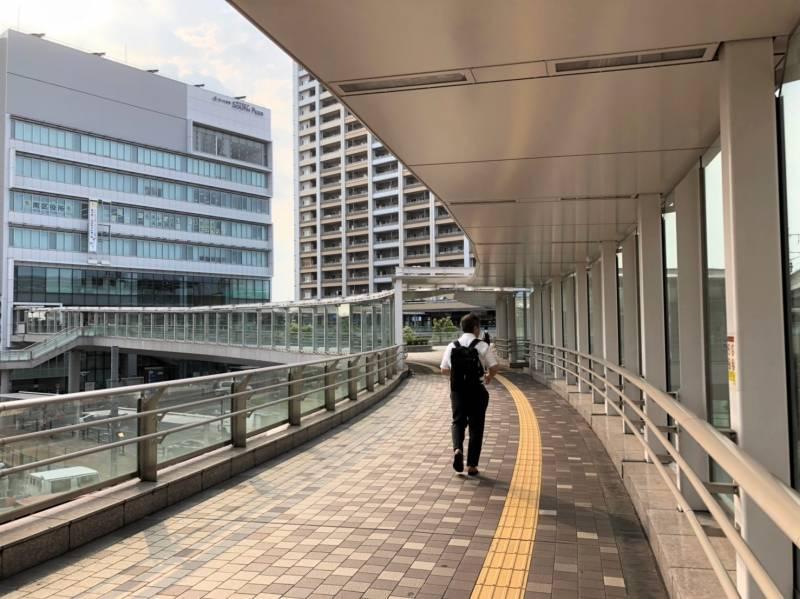 武蔵浦和駅のペデストリアンデッキ