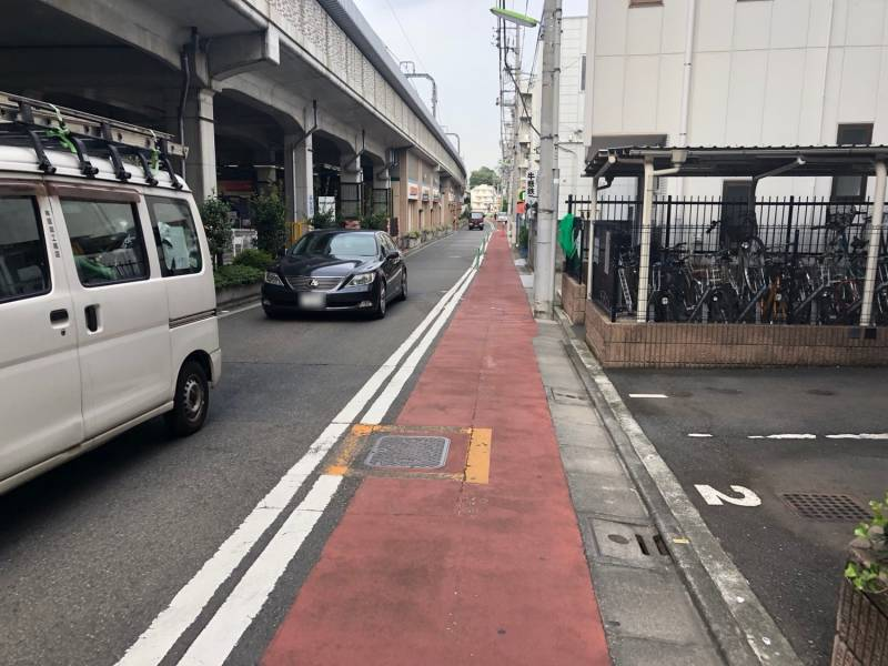 小田急横の道