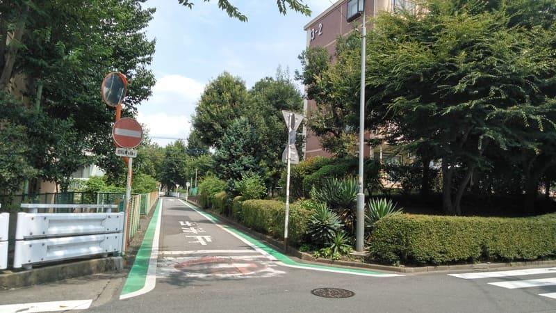 みずほ台西側の緑道