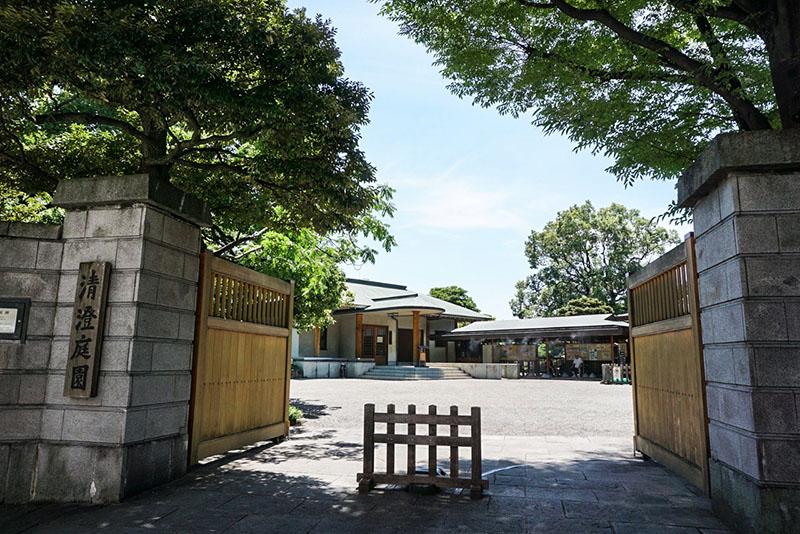 清澄庭園の入り口