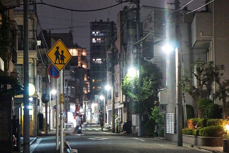 東陽町駅周辺の夜の住宅街