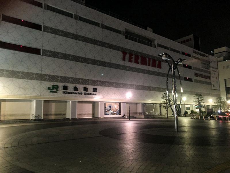夜の錦糸町南口
