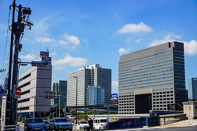 隅田川近くの景色