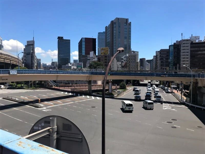 飯田橋交差点歩道橋上3