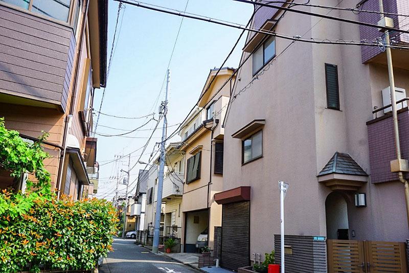 緑道側の住宅