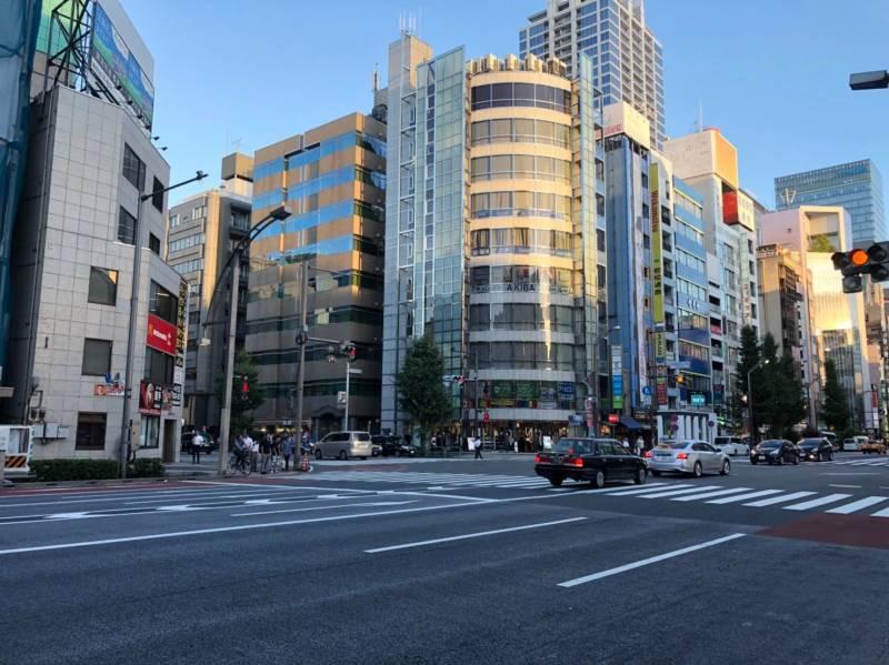 中央通りと蔵前橋通りの交差点