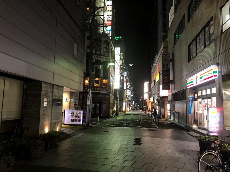 ピアきんしちょうの夜の風景