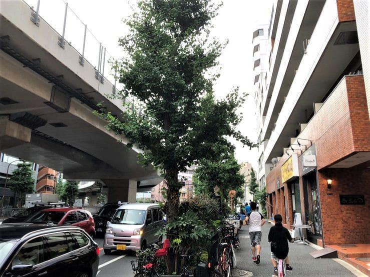 桜田通り沿いのマンション