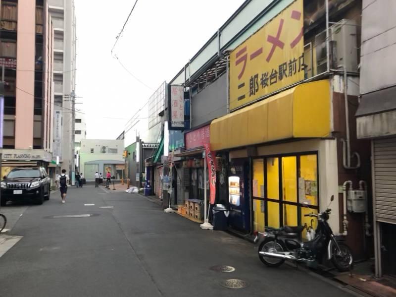 桜台駅北口から見える風景