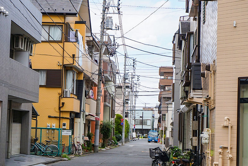 江戸川から篠崎駅に戻る途中の住宅街