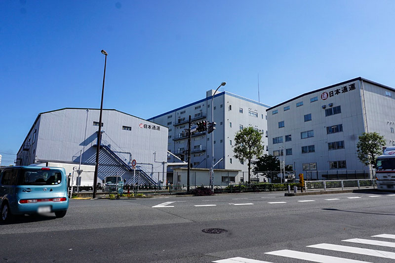 江東新橋東詰の交差点