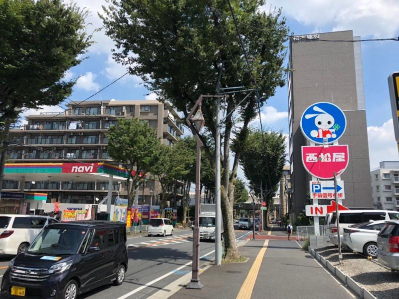 南与野駅周辺の浦和所沢バイパスの様子