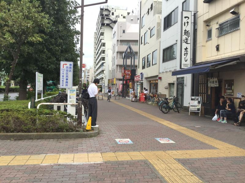 千川駅3番出口を出たところ
