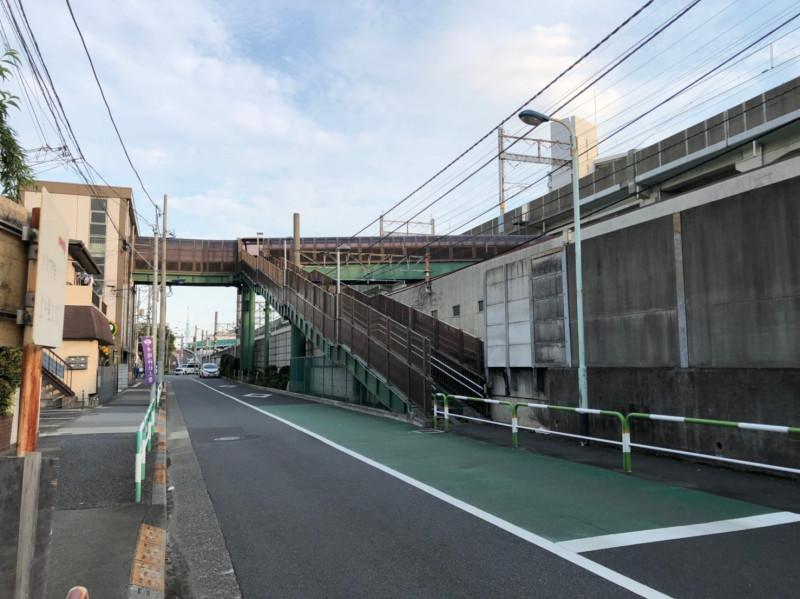 上中里駅の北側の街並み