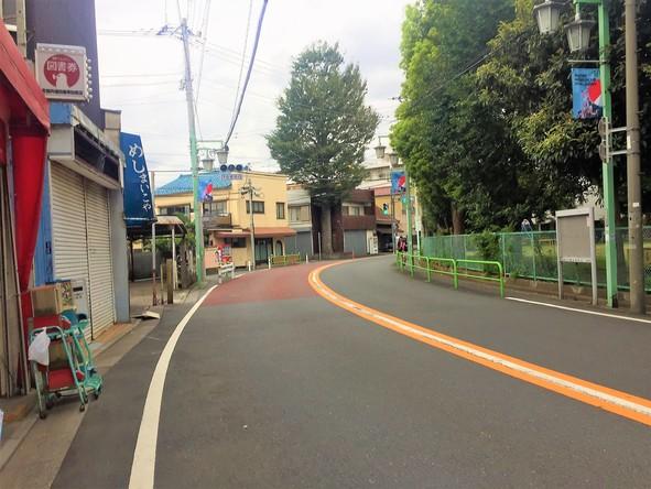 豊島園通り沿いの道路⓶