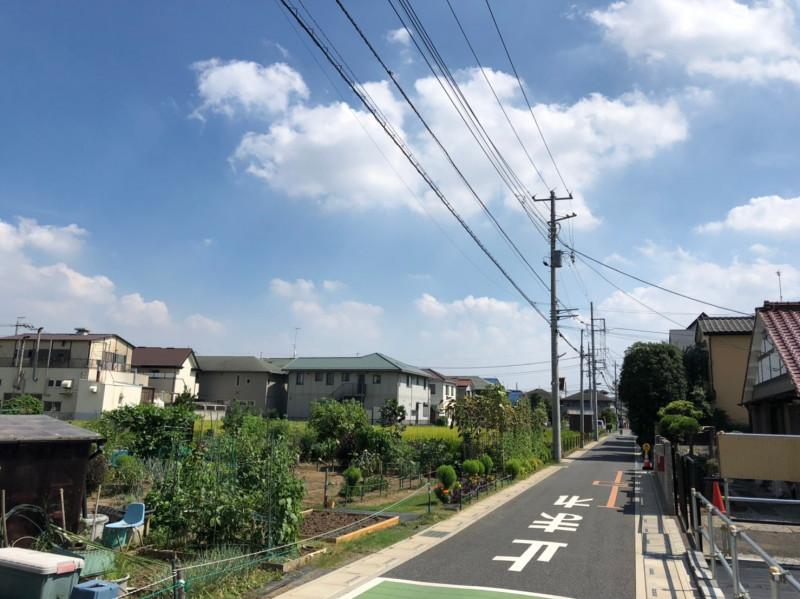 南与野駅西側の畑のある街並み