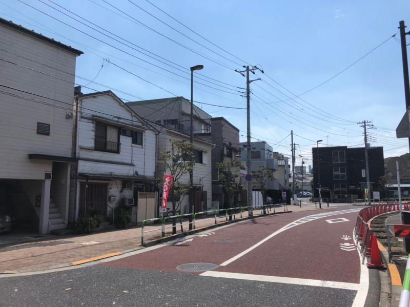 石神井川東側の道