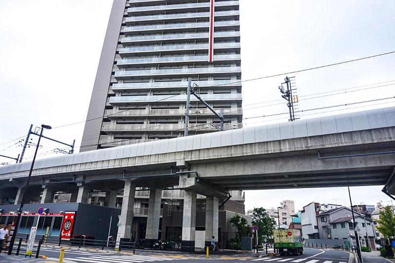 イトーヨーカドー曳舟店の東側の高架
